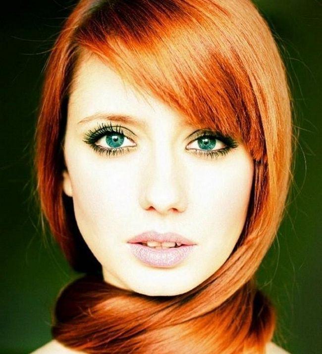 Culoare par pentru ochi verzi: cum de a alege? Cu ochii verzi fată: fotografie