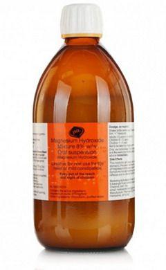 Гидроксид магния в бутылке