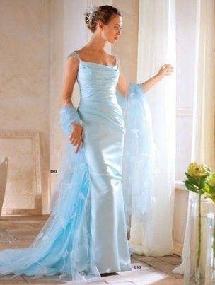 Голубое свадебное платье - символ верности и бесконечной любви