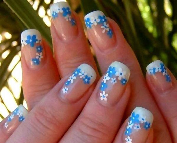 Как нарисовать цветы на ногтях? Как изобразить маки на ногтях акриловыми красками?