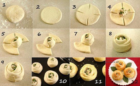 Делаем пироги в виде жгутов