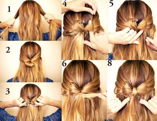 Как сделать причёску бантик? Прическа бантик из волос: инструкция и видео