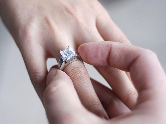 Каким должно быть помолвочное кольцо, на какой руке его носят?
