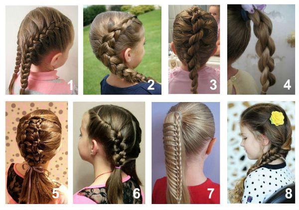 Красивые причёски в школу: быстрые варианты. Лёгкие причёски в школу: хвостики и косы