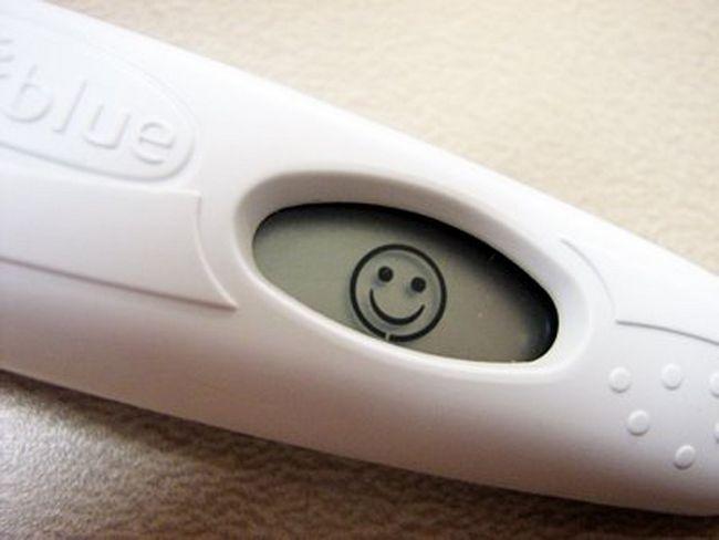 тест на беременность вечером