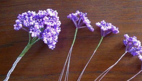 Поделки из бисера: цветы сирени