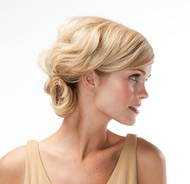 Праздничные прически на средние волосы. Простая и эффектная укладка волос средней длины