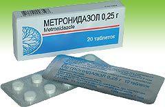 Применение таблеток Метронидазол