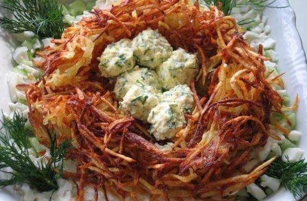 Салат Глухариное гнездо
