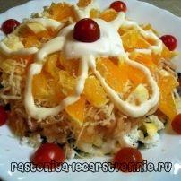 Салат курица с апельсинами, рецепты