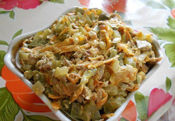 Традиционный рецепт салата обжорка с говядиной
