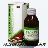 Сироп алоэ с железом - лекарство при железодефицитной анемии