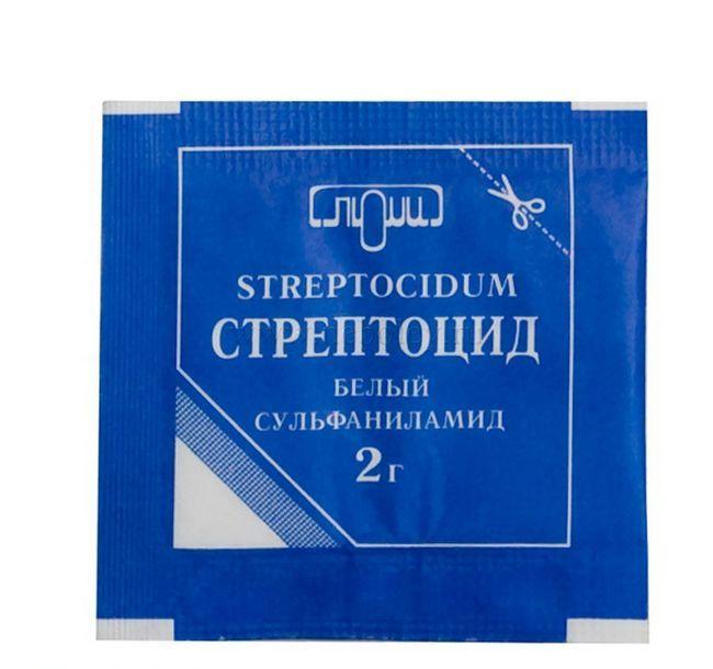Стрептоцид порошок - применение и инструкция