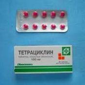 Тетрациклин таблетки: инструкция по применению, применение тетрациклина