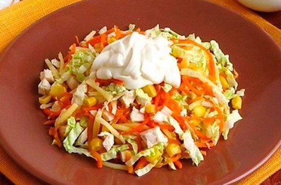Салат из корейской моркови и пекинской капусты